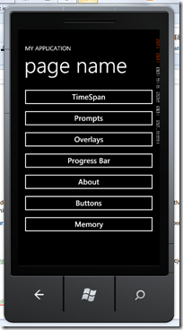 Snapshot of app running in the emulator